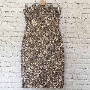 B.B. Dakota Brocade Strapless Mini Dress